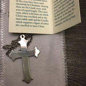 "James Avery Jewelry - SOLD James Avery retired Cross w/24"" JA chain"